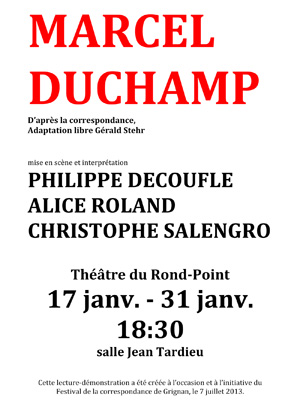 MARCEL DUCHAMP au Théâtre du Rond-Point
